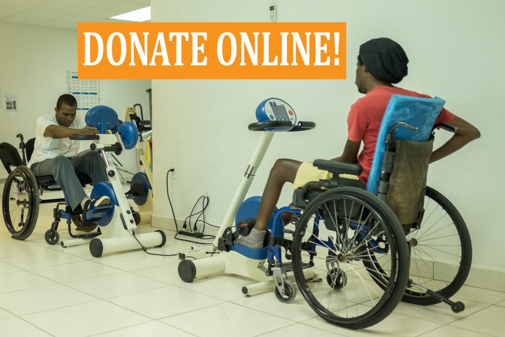 donate online to support people with spinal cord injury in curacao